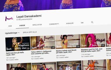 Layali på YouTube