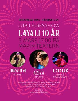 Layali jubileumsshow på Maximteatern